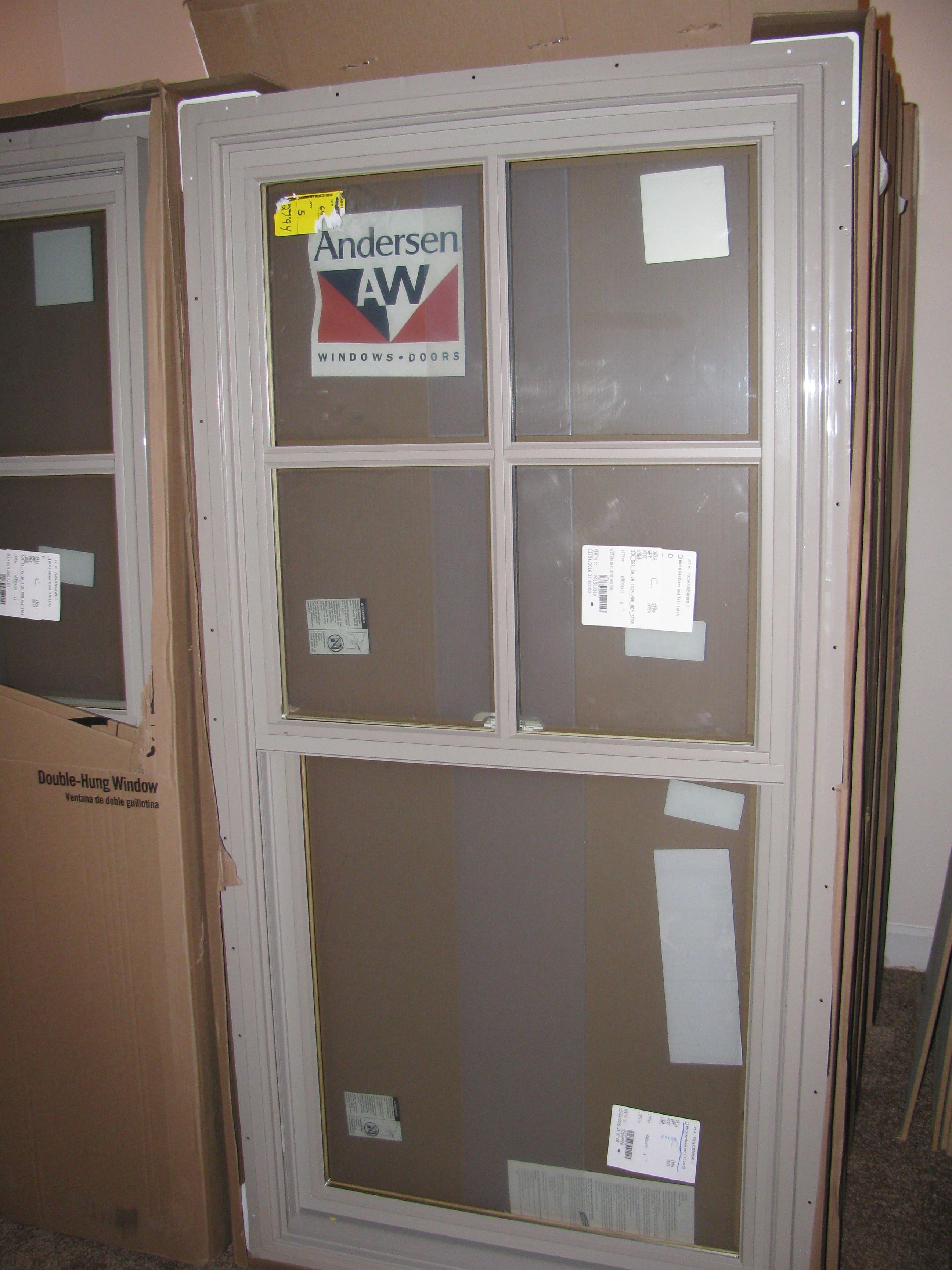 16 new andersen sandtone double hung windowspackage for Andersen windows u factor