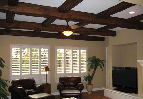 New hollowed beams look reclaimed barn wood beams very for Reclaimed wood beams los angeles