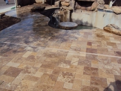 Travertine Pavers Walnut Or Light Color Chiseled Edge Or