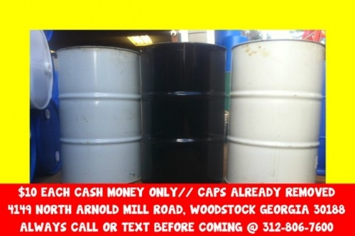 1O metal steel 55 gallon gal burn barrel barrels drum drums atlanta