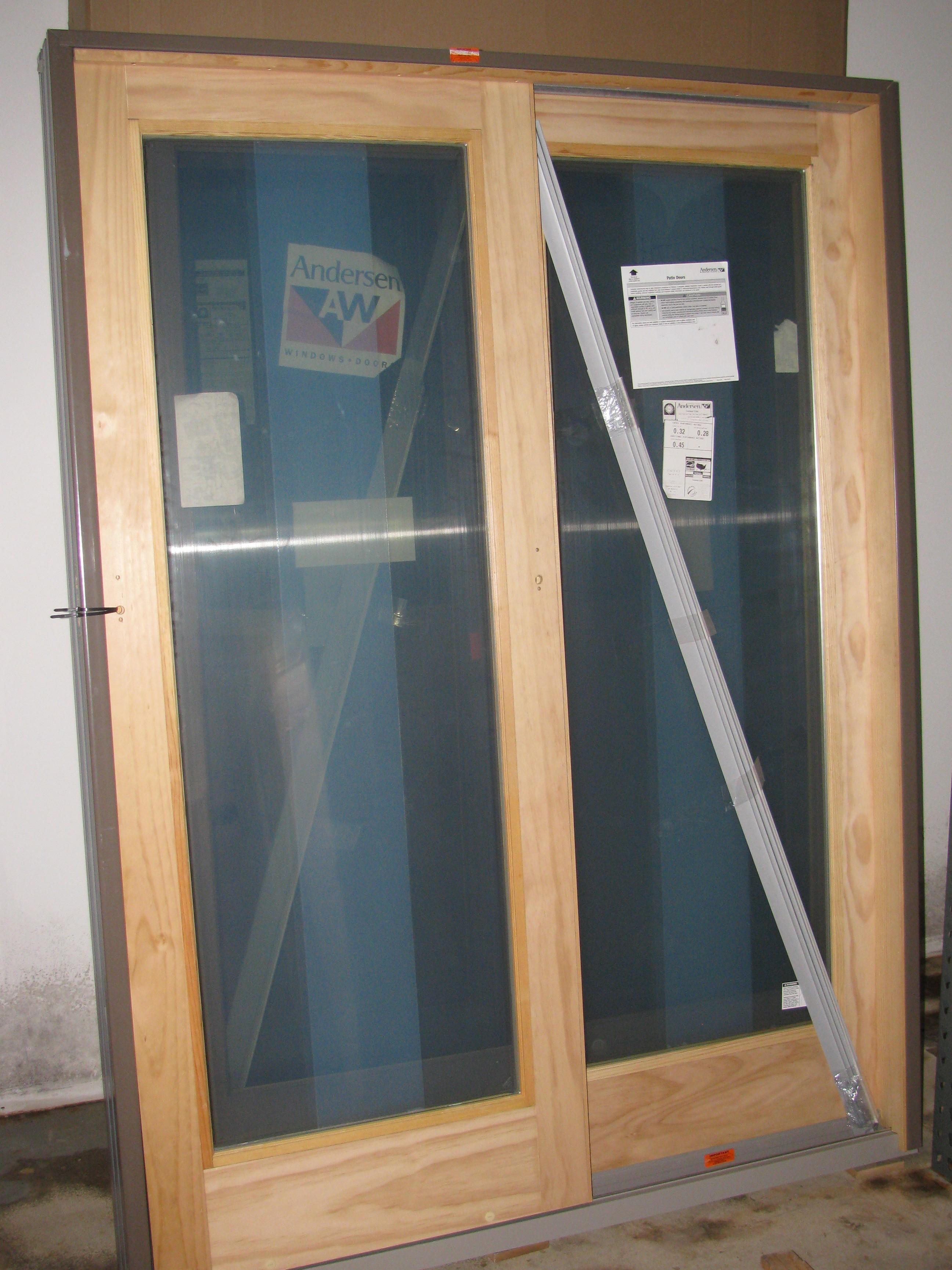 3matching New Andersen Terratone Sliding Patio Doors