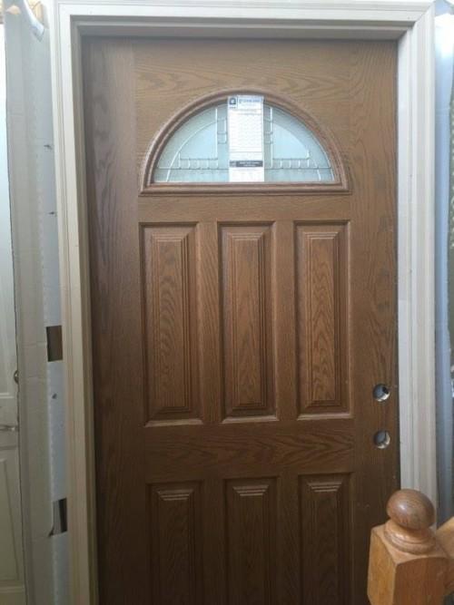 River Doors Feather River Door Bellante Wrought Iron: 1 Exterior Feather River Woodgrain Fiberglass Door 36 X 80