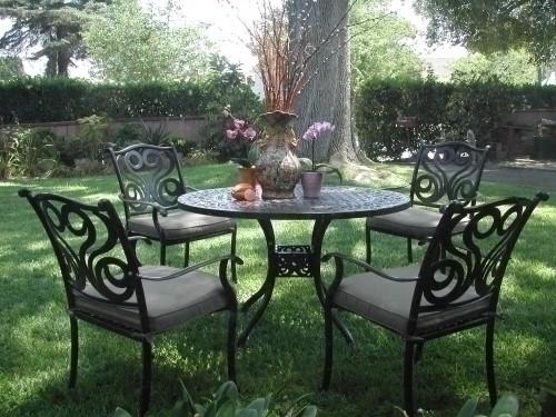 Outdoor Cast Aluminum Patio Furniture 5 Pc Dining Set E