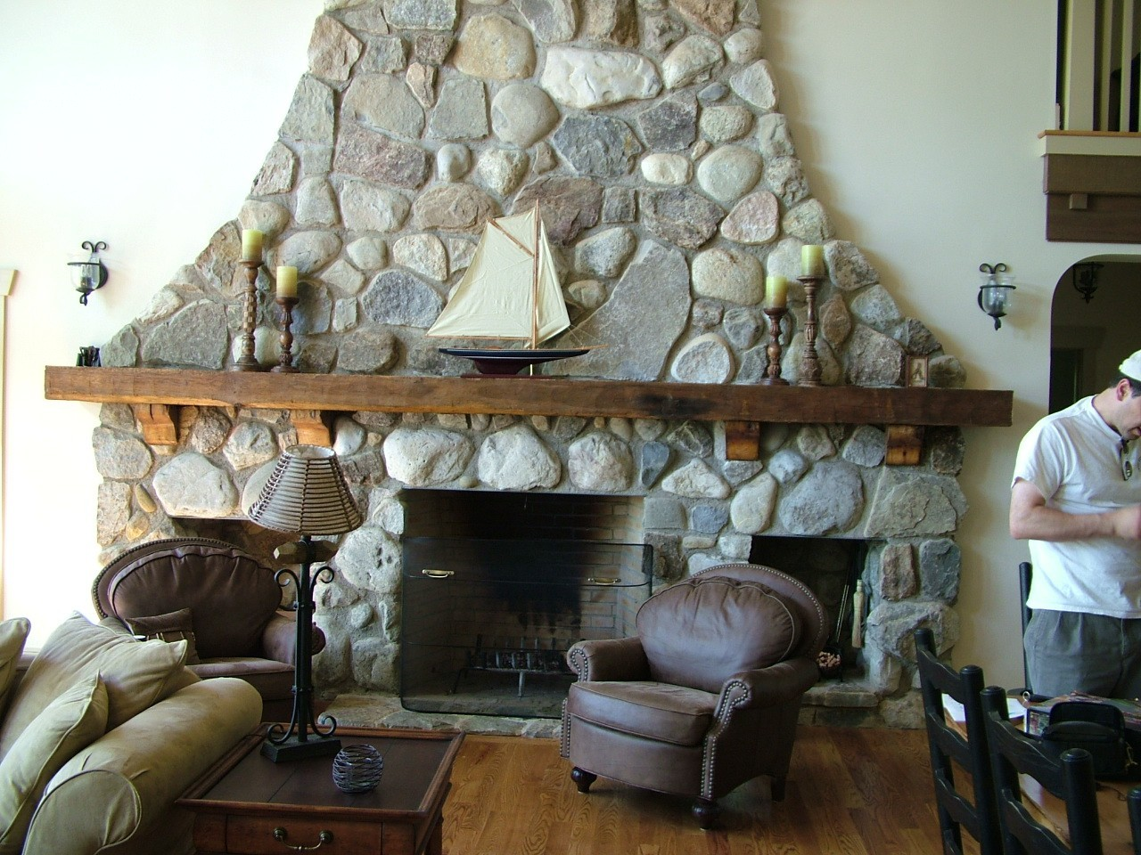 Reclaimed Barn Wood Fireplace Mantels Hollowed Out For
