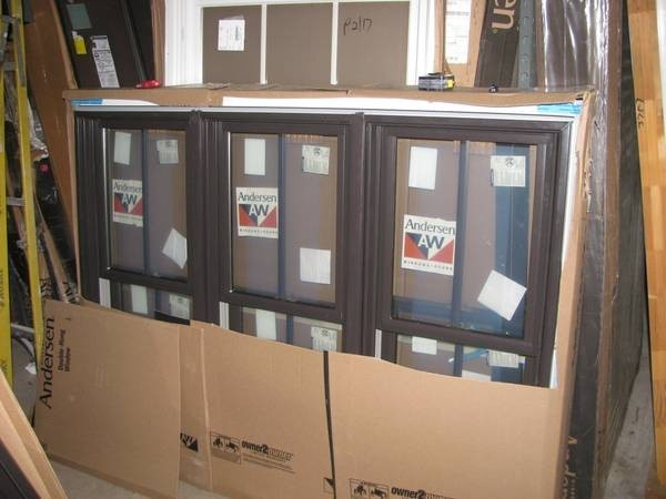 3dark Bronze Andersen Double Hung Windows Triple And