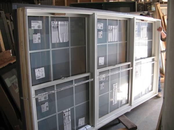 2 new dark bronze andersen triple double hung windows for Andersen windows u factor