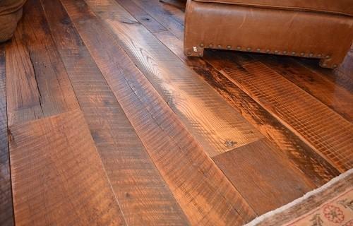 Reclaimed pub oak skip planed face wide plank flooring for Reclaimed wood flooring portland