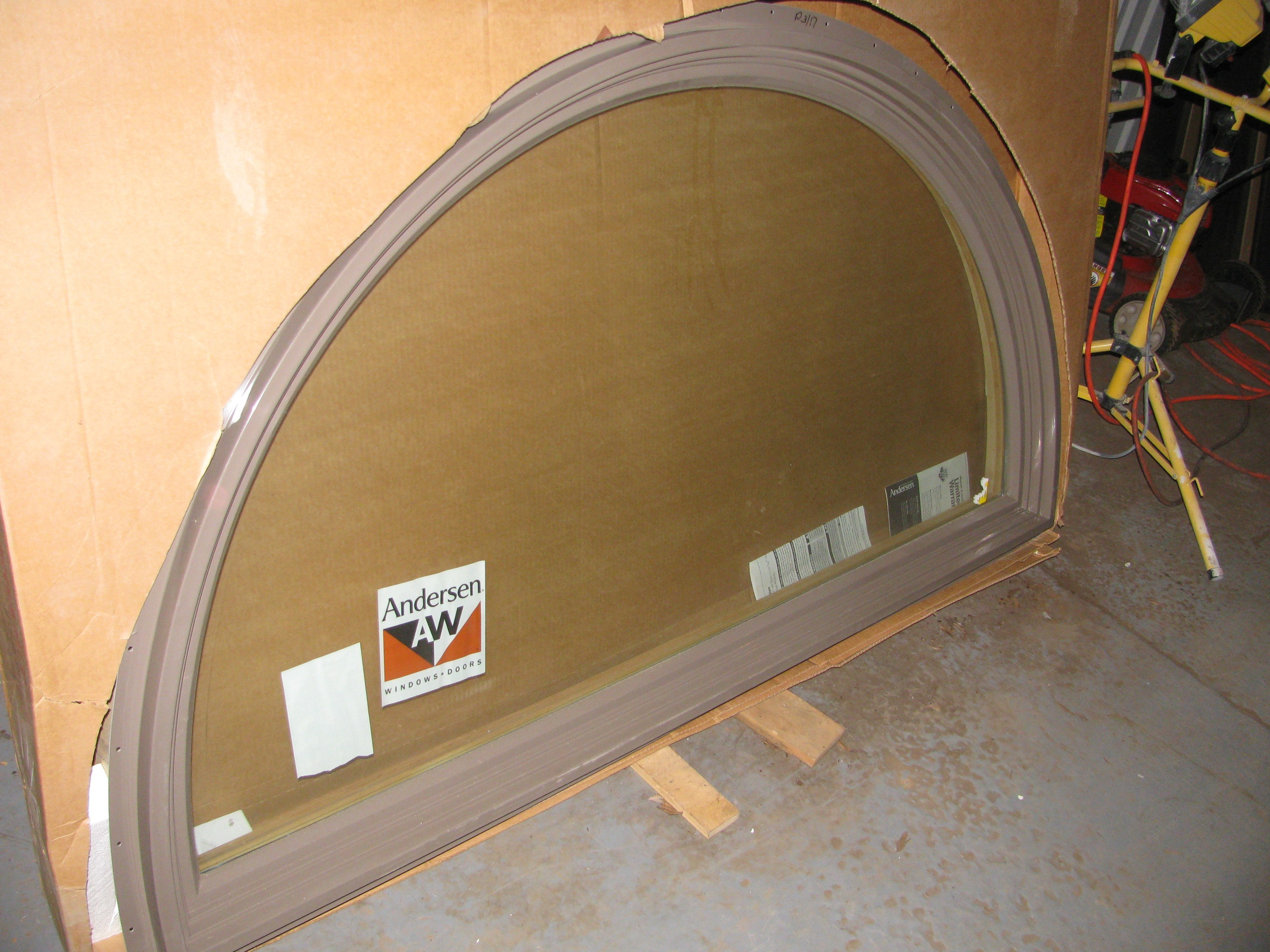 6 new andersen terratone half round 400 series windows for 12 round window