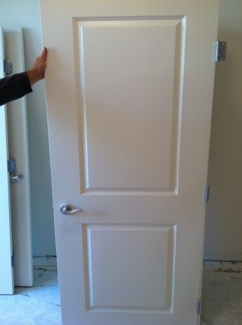 4 Nice 2 Panel Interior Hollow Core Doors With Hardware   $35