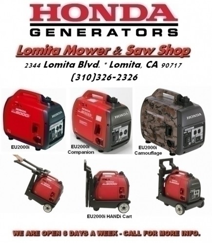 HONDA Super Quiet EU2000i Generators   $0