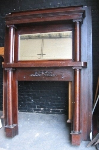 Antique Victorian Fireplace Mantel, Antique Victorian Fireplace Surround