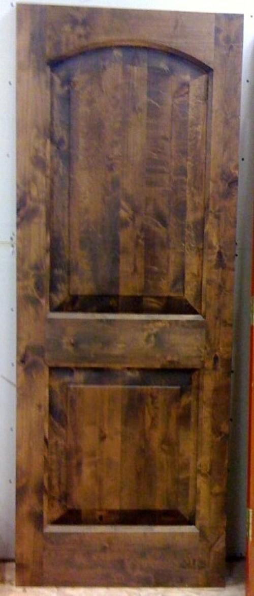 Dark Walnut Stain Slab Door