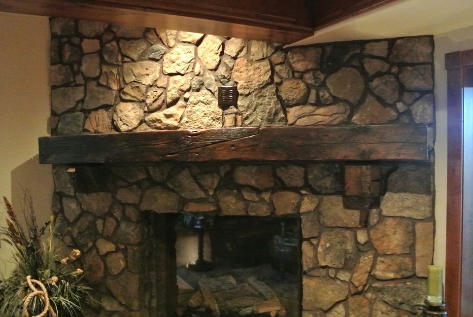 Reclaimed Barn Wood Fireplace Mantels Hollowed Out For Easy Install Barn Beam Mantels | DiggersList