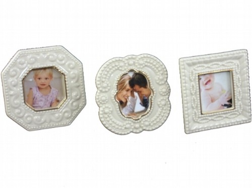 Lenox Ivory Porcelain with Gold Accent Set of 3 Small Picture Frames ...