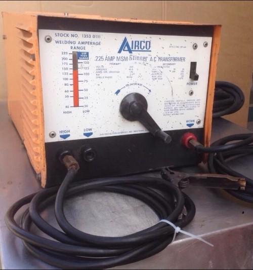airco welder 225 amp msn stinger ac transformer stock no 1353 0111 diggerslist. Black Bedroom Furniture Sets. Home Design Ideas