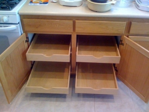 DIY Kitchen Cabinet Rollout Shelves | DiggersList