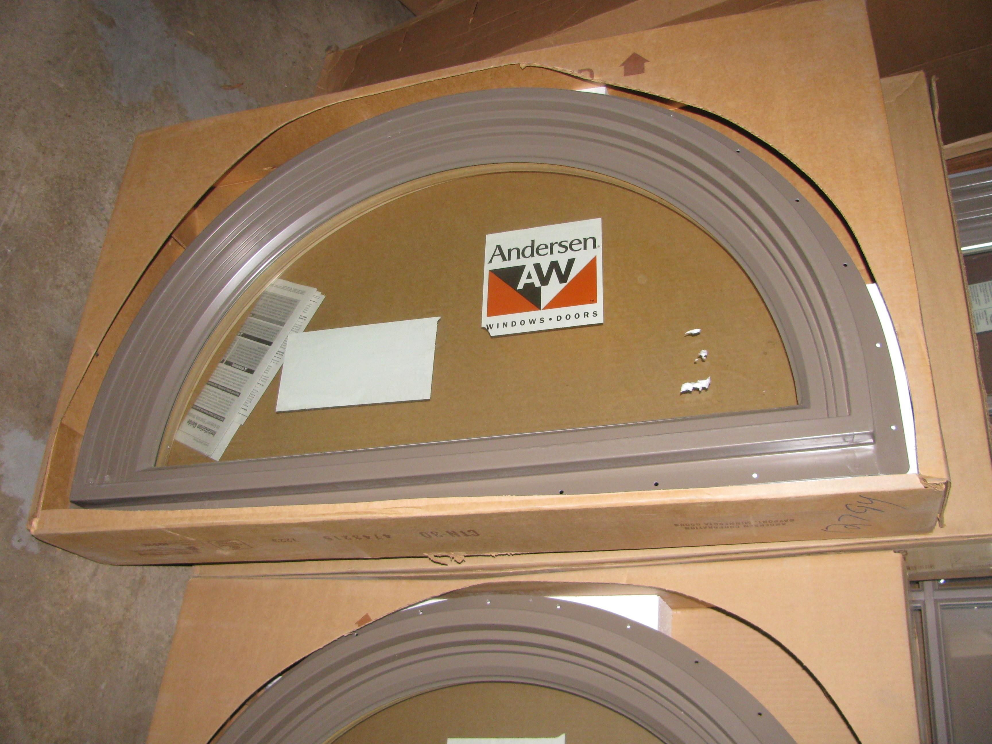 6 new andersen terratone half round 400 series windows for Andersen windows u factor