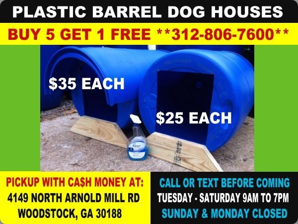 2o Plastic 15 Gallon Drum Barrel Atlanta Georgia Rain