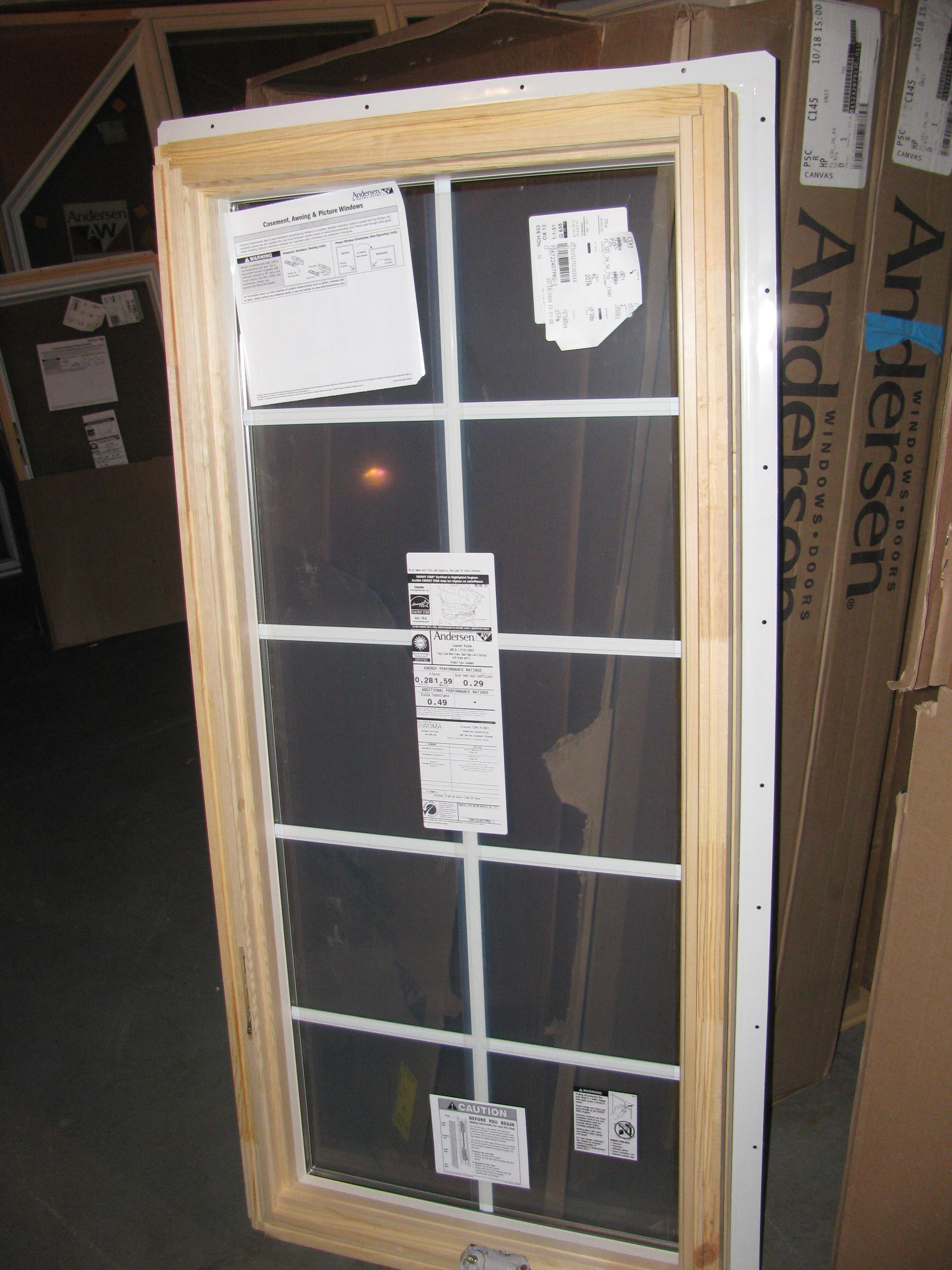 11new andersencanvas casement windows400 series diggerslist for Andersen windows u factor