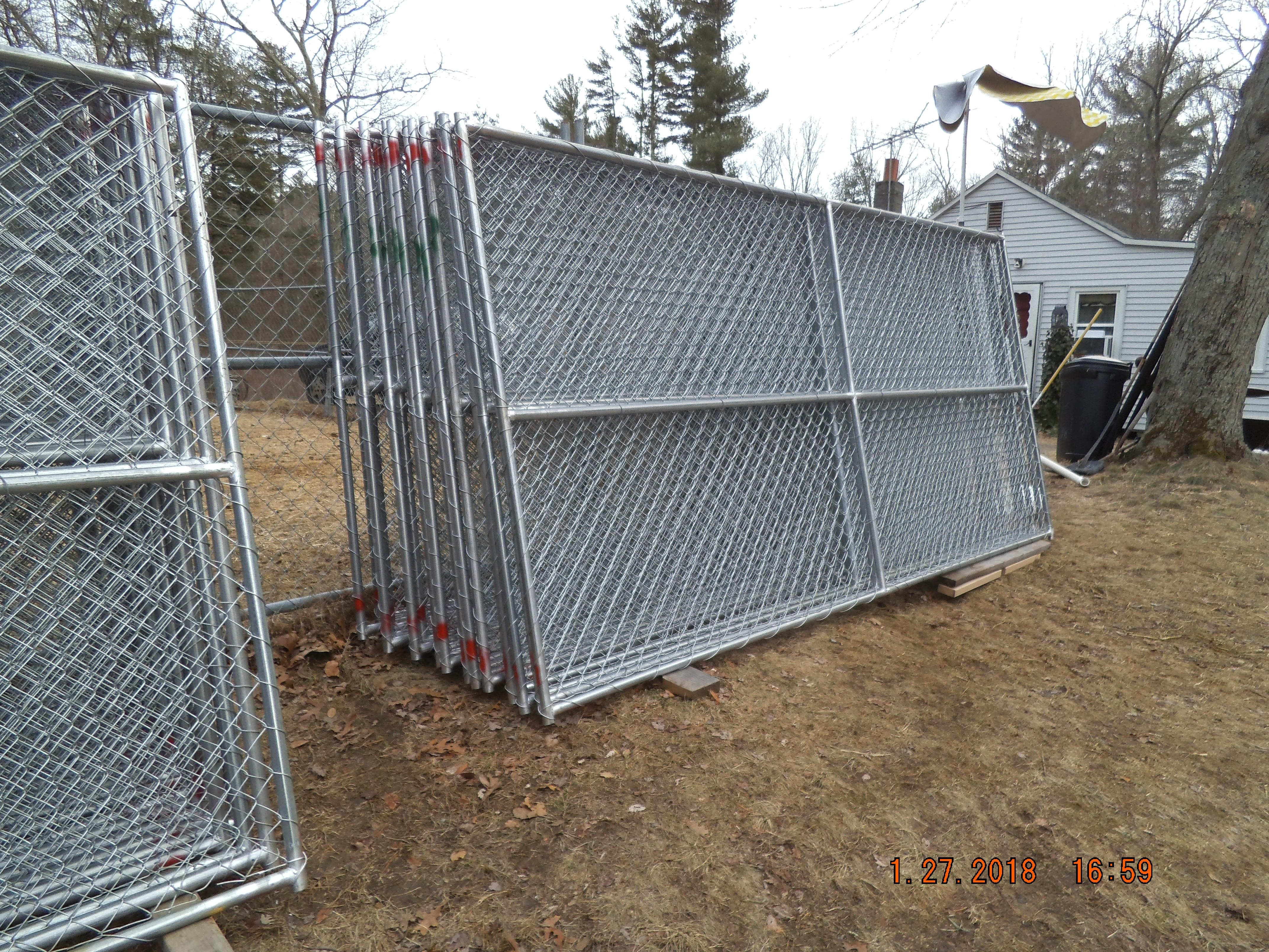New No Digging Commerercial 6x12 Chainlink Fence Panels
