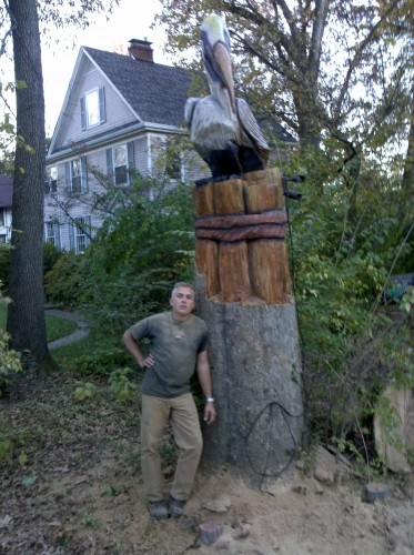 Have a tree chainsaw carved in your yard diggerslist