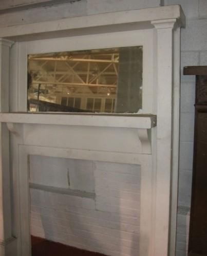 Antique Fireplace Mantel Mantle Mirror Firebox 35x35 Diggerslist