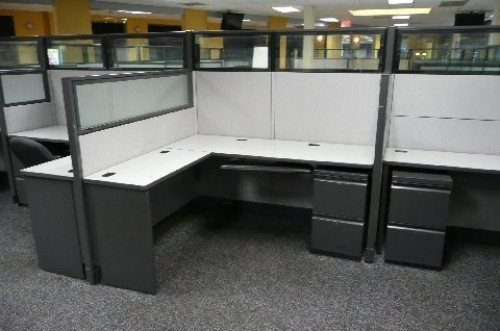 850 Modern Glass Topped Cubicles By Allsteelhuge