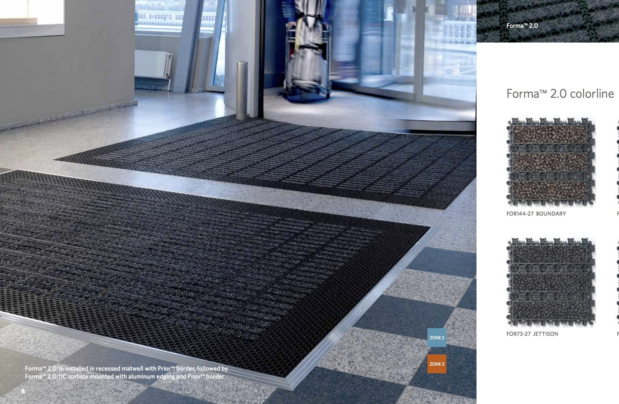 Rubber Entrance Flooring Matts, Prior 11C, Forma 2 0 11c, and 11mm