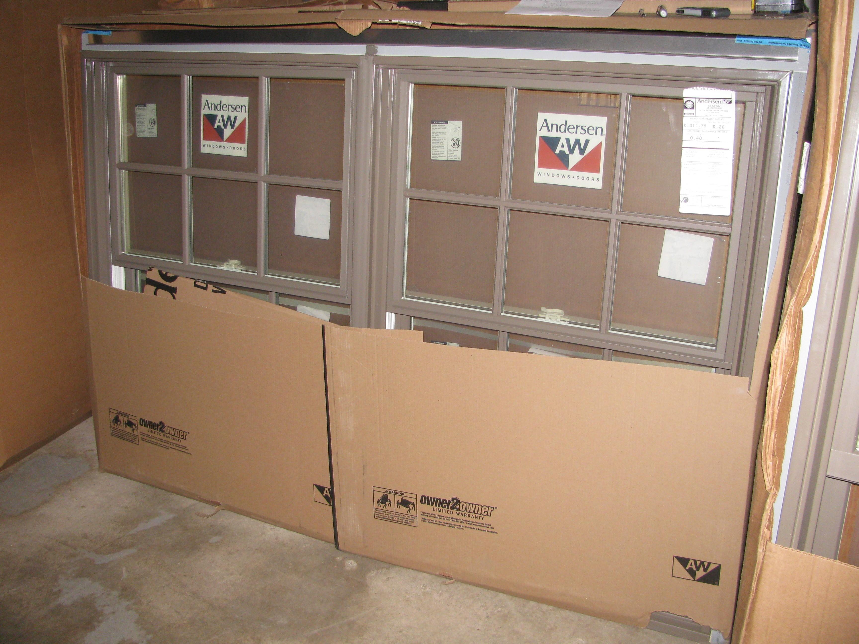 3 new andersen terratone double double hung windows for Andersen windows u factor