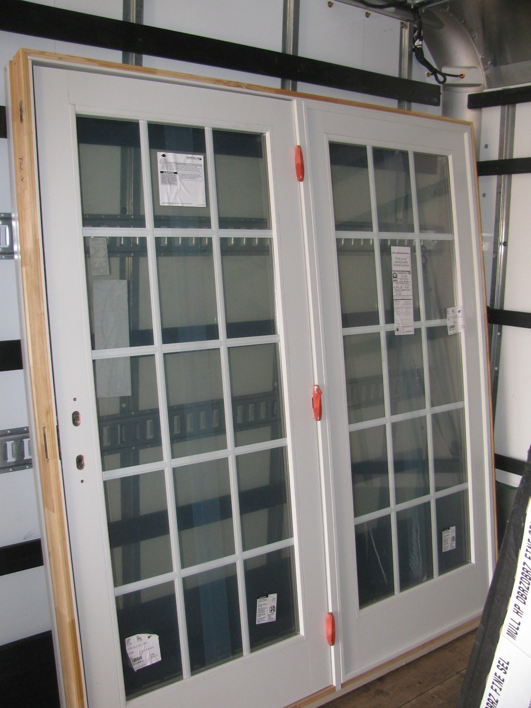 1new white andersen 6ft patio door with grids diggerslist for 6ft sliding patio doors
