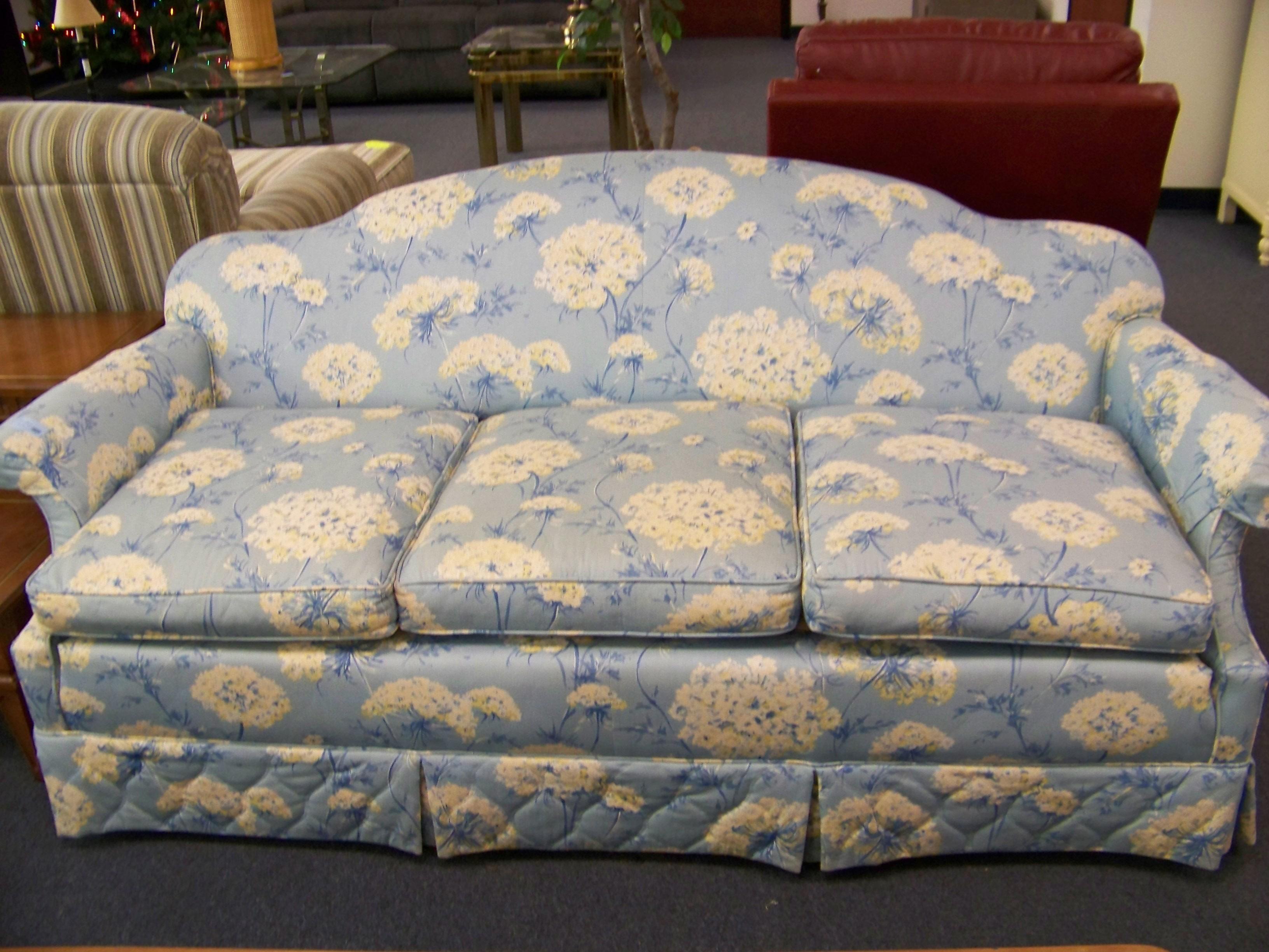Cloud Blue Floral Sofa Diggerslist