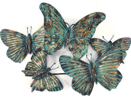 ~Reg40Target Home Metal Pattina Butterfly Wall Art - $11.99