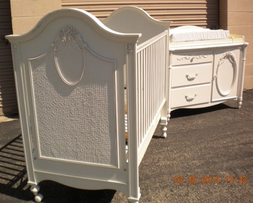 High End Baby Crib And Dresser, Stanley Young America Furniture