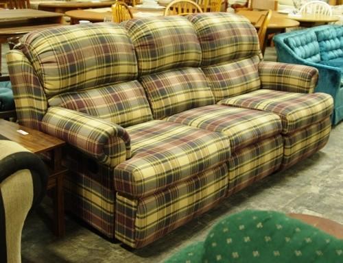 Plaid Dual Reclining Sofa Diggerslist