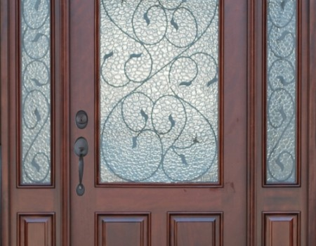 Exterior Front Entry Wood Valencia Door Deluxe