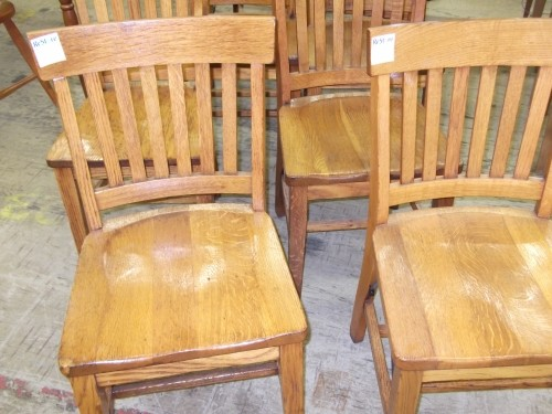 Oak Mission Library Chairs   $0