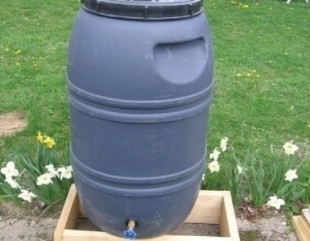 Rain Barrel Locally Made From Recycled Materials
