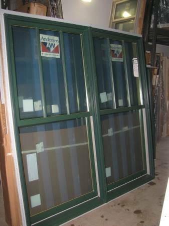 4new forest green andersen double hung windows diggerslist for Andersen windows u factor