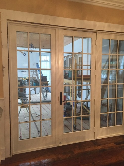 Anderson 3 panel 9ft french door diggerslist for Sliding glass doors 9ft