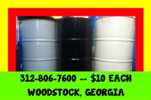 1o Atlanta Georgia Burn Barrel Barrels Drum Drums 55