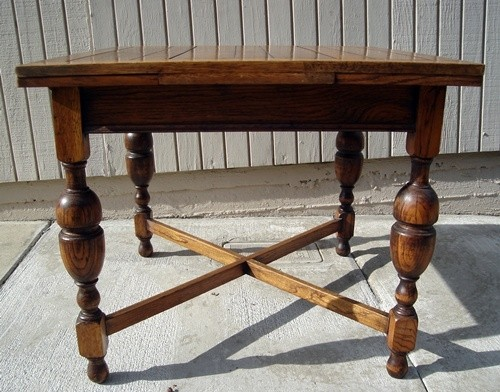 Antique PUB Table Solid ENGLISH Tiger OAK Circa 1920   $557.76