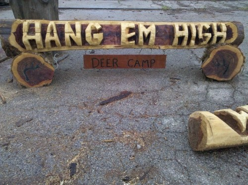 Chainsaw carved name log diggerslist