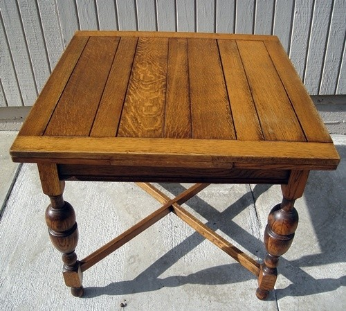 Merveilleux Antique PUB Table Solid ENGLISH Tiger OAK Circa 1920   $557.76